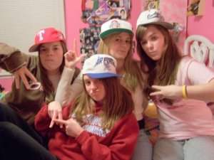 From one of our Lunch Bunch Sleepovers. We were definitely the cool kids in High School...