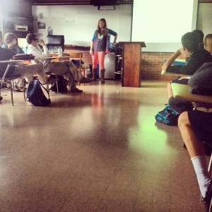 My day speaking to some amazing high schoolers.
